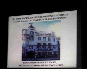 Imagen de la sede del Club Español de Buenos Aires, Argentina, donde funciona FEDESPA