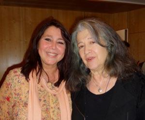 Las pianistas argentinas Cecilia Pillado y Martha Argerich