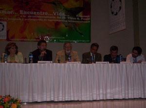 El Dr. Viktor Frankl, psicólogo argentino, en el encuentro de logoterapeutas en Méjico, año 2005