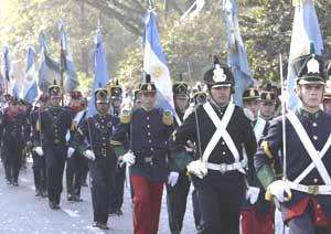 Aspecto del desfile del Día de la Independencia el 9 de Julio de 2010 en la ciudad de San Miguel de Tucumán, en Argentina
