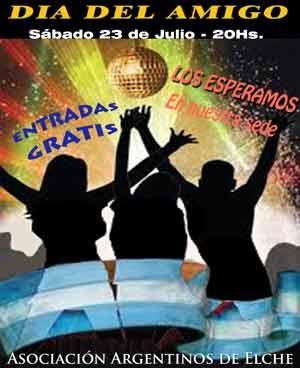 Cartel del día del amigo de la Asociación de Argentinos de Elche, edición 2011