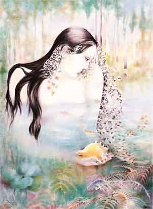 """Silencios del agua"", obra de la pintora argentina Elsa Pérez Vicente. Reside en Gondomar, Pontevedra, España"
