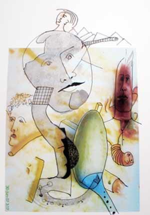 Fideuá, obra de Jopep Basset, artista plástico valenciano residente en Gandía, premio de los Certámenes Internacionales La Lectora Impaciente Edición 2011, que se entregarán el 24 de setiembre 2011 en Gandía