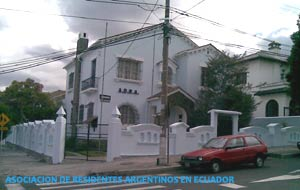 Sede social de la Asociación de Residentes Argentinos en Ecuador, situada en la ciudad de Quito