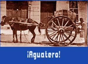 El agua y el vino era llevado por los barrios de Buenos Aires y Rosario, en Argentina, con carruajes tirados por un caballo. Y el clásico grito de ¡Aguatero! o !Llega el vino! entre otros, ataían a los clientes