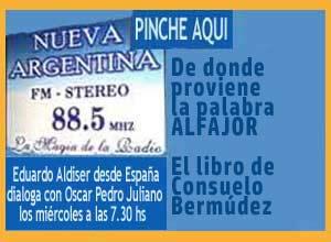 Aldiser comenta sobre el alfajor y su origen árabe, presente en Andalucía con Oscar Pedro Juliano en Radio Nueva Argentina de Ituzaingó