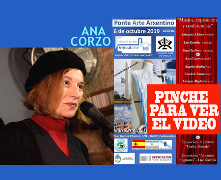 La poetisa, actriz y cantante Ana Corzo se ha sumado al Ponte Arte Arxentino con el recitado de poemas de Alejandra Pizarnik