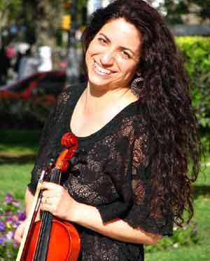 Ana Geniso, violinista argentina, integrante de la Orquesta Sinfónica de Mar del Plata