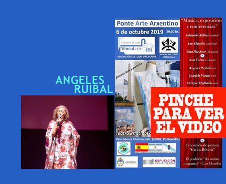 La cantante española Angeles Ruibal participó en Ponte Arte Arxentino 2019 en el Teatro Principal de Pontevedra, su ciudad natal