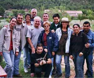 Grupo de asociados de la Asociación Cultural Argentina de Manresa durante unas actividades sociales