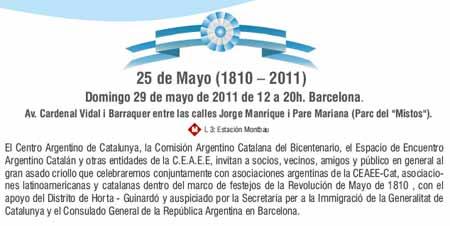 25 de mayo, Fiesta Patria de Argentina celebrada el 29 de mayo 2011  en Barcelona