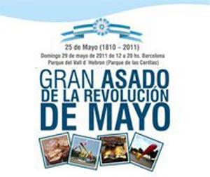 Gran asado de la Revolución de Mayo organizado por el Centro Argentino de Cataluña