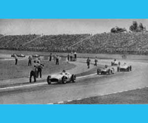 La vieja Formula Uno con Juan Manuel Fangio y otros grandes, en el Autódromo de la Ciudad de Buenos Aires, Argentina