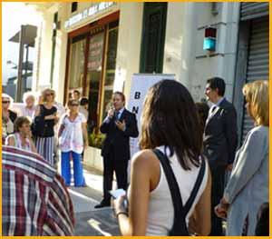 Un momento del acto recordando a Marcel Duchamp en Buenos Aires, Argentina, 5-12-17