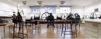 Sala de grabados de la Escuela de Bellas Artes de la UCM, Madrid, España