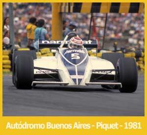 Nelson Piquet ganando el Gran Premio de la República Argentina en el Autódromo Ciudad de Buenos Aires, 1981