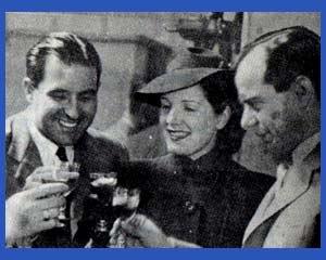 Foto con los integrantes del dúo Buono Striano de humoristas con Libertad Lamarque. Los tres nacieron en Rosario