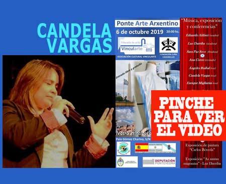 Desde Esperanza, Santa Fe, Argentina, se sumó al Ponte Arte Arxentino la cantante de folklore Candela Vargas