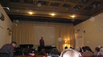 Auditorio de la Casa Argentina, Vía Veneto 7, Roma Italia, en la Embajada de la República Argentina