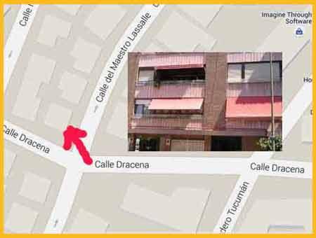 Plano de Madrid, zona del barrio de Santamarca donde vivió unos siete años Casildo Herrera, el sindicalista peronista de la CGT de Argentina