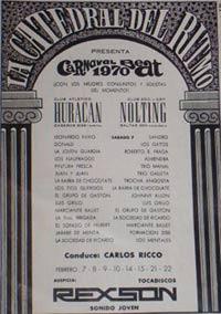 La Catedral del Ritmo de Carlos Riccó, Carnaval Beat de 1970 en Buenos Aires, Argentina