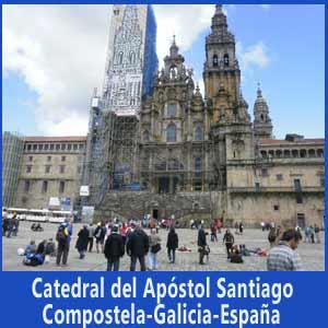 Catedral de Santiago de Compostela, el tercer templo de la cristiandad, en la provincia de La Coruña, Galicia, España