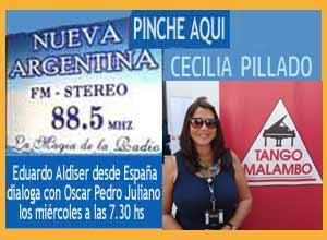Cecilia Pillado, pianista y actriz argentina que vive en Berlín, hizo las delicias del público de Radio Nueva Argentina de Ituzaingó, entrevistada por Eduardo Aldiser