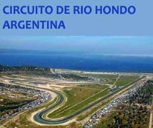Vista aérea del Circuito de Río Hondo, provincia de Santiago del Estero, Argentina
