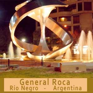 Ciudad de General Roca, Provincia de Río Negro, Argentina. Capital Nacional de la Manzana, ciudad de frutas y turismo