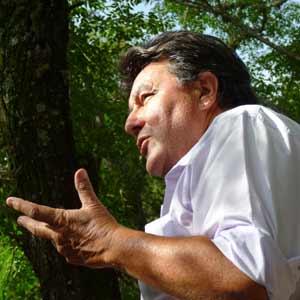"""Roberto """"Coya"""" Chavero, folklorista argentino que reside en Cerro Colorado, Provincia de Córdoba, Argentina"""