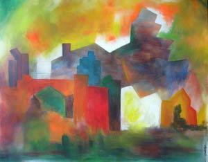 Obra de la pintora argentina Silvia Bregar, residente en Mallorca