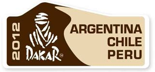 Logotipo del DAKAR 2012 que se correrá entre Mar del Plata, Argentina y Lima, Perú, pasando por Chile y el desierto de Atacama