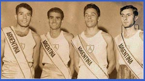 El atleta Domingo Amaison en una de las muchos ocasiones que representó a la Argentina a nivel internacional