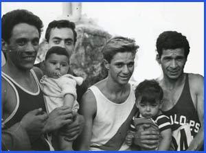 El atleta de Argentina Domingo Amaison en una de las muchas carreras en las que participó