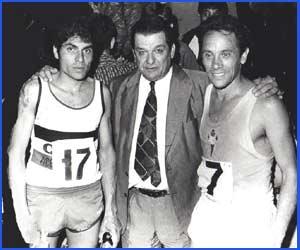 Un momento de la carrera deportiva vivida por Domingo Amaison, gran atleta de larga distancia y maratón, que representó a la Argentina en diversos países del mundo