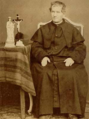 Imagen de Giovanni Bosco, fundador de la Congregación de San Francisco de Sales, párroco franciscano conocido como Don Bosco y ahora San Juan Bosco