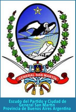 Escudo del Partido y Ciudad General San Martín en la Provincia de Buenos Aires, Argentina