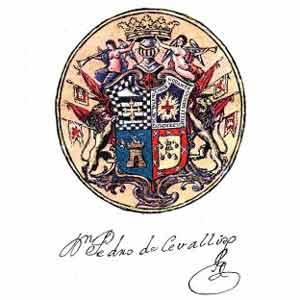 Escudo del Virreinato del Río de la Plata y la firma de su primer Virrey, Pedro de Cevallos