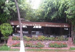 Vista del restaurante Estancia Chica, Bogotá, Colombia, propiedad del jugador argentino Juan Carlos Sarnari
