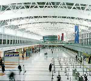 Sala del Aeropuerto Internacional de Ezeiza, la puerta de entrada a la República Argentina, a pocos kilómetros de Buenos Aires, su capital federal