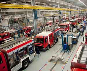 Planta de Iveco-Magirus que fabrica exclusivamente camiones y equipos móviles para los cuerpos de bomberos europeos