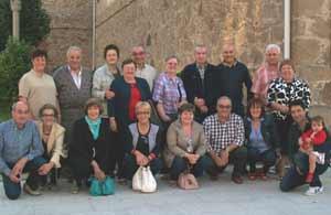 La familia de Gema López Abad al completo, en Burela, con los ocho hermanos, cuñados, sobrinos