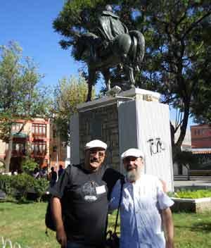 Fernando Pérez Poza, poeta español de Pontevedra, España, durante su recorrido por Argentina y Bolivia en Noviembre 2013