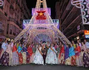 Reinas de las fiestas falleras valencianas