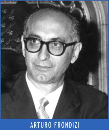 Doctor Arturo Frondizi, presidente de Argentina, que visitó como candidato al General Perón en la Residencia 17 de Octubre del barrio de Puerta de Hierro, en Madrid, España