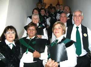 La tercera desde la izquierda, en primera fila, es Gema López Abad, en un coro de la ciudad de Buenos Aires donde participan muchos inmigrantes gallegos o hijos de gallegos en Argentina