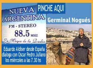 Eduardo Aldiser recuerda a Germinal Nogués en el programa de Oscar Pedro Juliano, Radio Nueva Argentina, Ituzaingó, Buenos Aires, el 27-7-2016