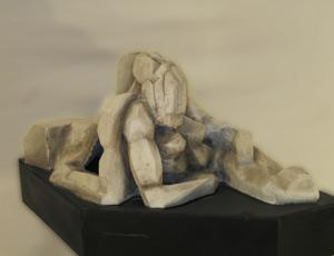 Obra esdcultórica de Horacio Mario Gloz, artista argentino residente en la provincia de Pontevedra, España