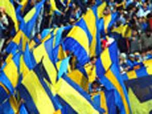 Hinchada de Boca Juniors en su estadio de la Bombonera, en pleno barrio de la Boca,  Buenos Aires, Argentina