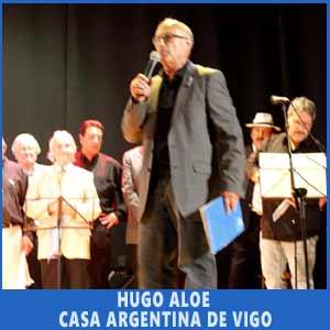 Hugo Aloé, presidente de la Casa Argentina de Vigo, cerrando el Festival Argentino celebrado en las vísperas del 9 de Julio 2017 en el Auditorio de Teis